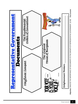 Graphic Organizers, 8th Grade Social Studies