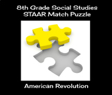 8th Grade Social Studies STAAR Match Puzzle - American Revolution