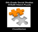 8th Grade Social Studies STAAR Match Puzzle - Constitution