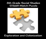 8th Grade Social Studies STAAR Match Puzzle - Exploration