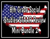 8th Grade Social Studies STAAR Review Bundle 2