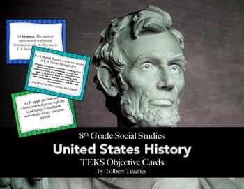 8th Grade Social Studies TEKS Objective Posters