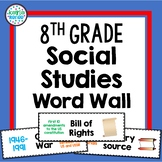 8th Grade Social Studies Vocabulary Word Wall with PICTURES!