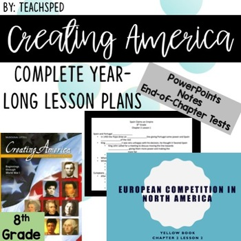 COMPLETE EDITABLE 8th Grade Social Studies YEAR LONG LESSONS!!!