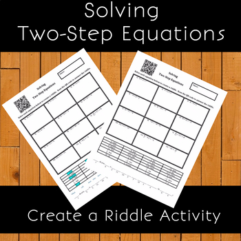 8th Grade:  Solving Two-Step Equations Create a Riddle Activity