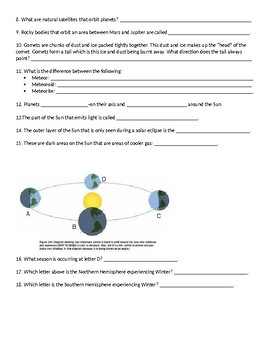 8th Grade Space Unit Study Guide