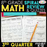8th Grade Math Review & Quizzes | Homework or Warm Ups | 3