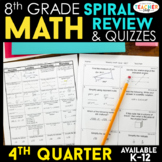 8th Grade Math Review & Quizzes | Homework or Warm Ups | 4