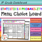 8th Grade Statistics and Probability Choice Board – Enrichment Math Menu