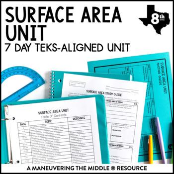 8th Grade Surface Area Unit: TEKS 8.7B