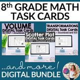 8th Grade TASK CARDS BUNDLE GOOGLE SLIDE VERSION! Over a 2