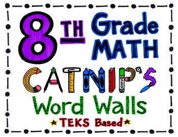 8th Grade TEKS Based Math Word Wall