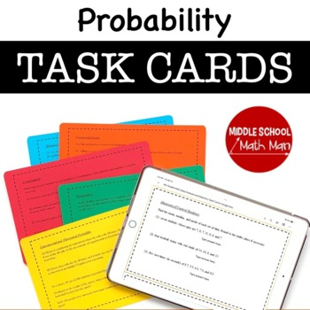 8th Grade Task Cards - Probability and Combinations