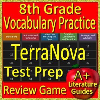8th Grade TerraNova Test Prep Reading Vocabulary Practice Review Game Terra Nova