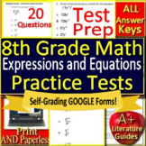 8th Grade Math Test Prep: Expressions + Equations Standardized Testing Practice