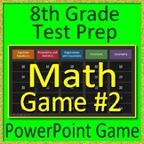 8th Grade Test Prep Math Game #2 Spiral Review CCSS Smarter Balanced