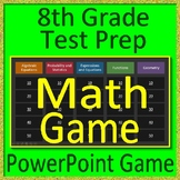 8th Grade Test Prep Math Game Spiral Review CCSS Smarter Balanced