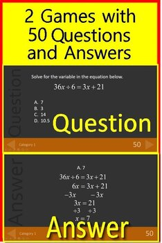 8th Grade Test Prep Math Practice AND Games Bundle - Spiral Review Google Ready
