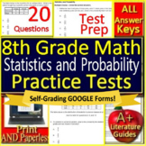 8th Grade Math Unit 5: Statistics and Probability Grade 8 Test Prep Standardized