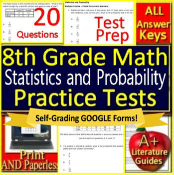 8th Grade Math Unit 5: Statistics and Probability Grade 8 Test Prep  Standardized
