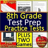 8th Grade ELA Test Prep Distance Learning Packets and Games Google Classroom