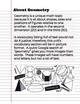 8th Grade: The Geometry Unit