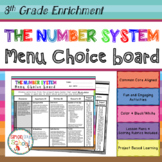 8th Grade The Number System Choice Board – Enrichment Math Menu