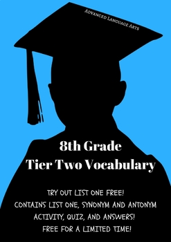 8th Grade Tier Two Vocabulary List 1