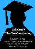 8th Grade Tier Two Vocabulary List 1