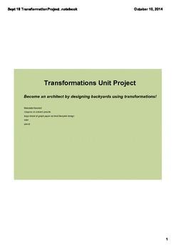 8th Grade Transformations Project