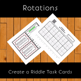 8th Grade Transformations:  Rotations Create a Riddle Task