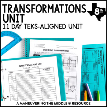 8th Grade Transformations Unit: TEKS