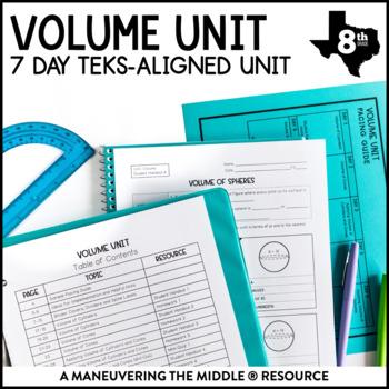 8th Grade Volume Unit: TEKS 8.6A, 8.7A