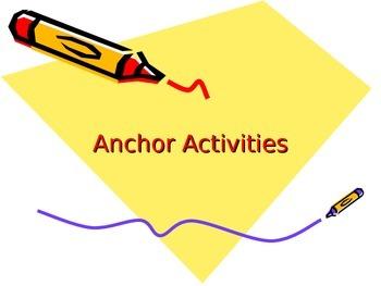 8th Grade U.S. History Anchor Activities