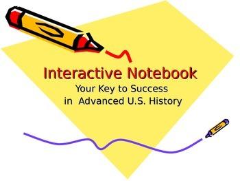 8th Grade U.S. History Interactive Notebook Set Up