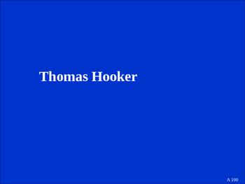 8th Grade U.S. History People Jeopardy