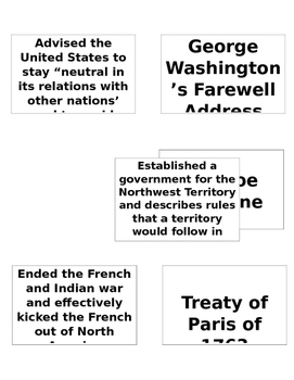 8th Grade U.S. History STAAR Review Cards Part 2