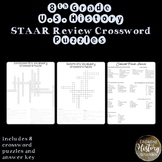 8th Grade U.S. History STAAR Review Vocabulary Crossword Puzzle Bundle