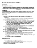 8th Grade U.S. History Syllabus