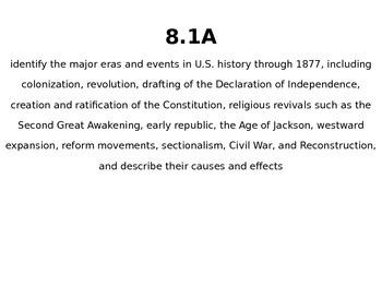 8th Grade U.S. History TEKS