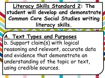 8th Grade U.S. History Oklahoma C3 Standards