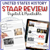 8th Grade U.S. History Social Studies STAAR Review Study Guide