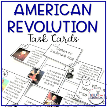 8th Grade US History STAAR Review Task Cards: American Revolution