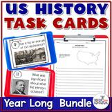 U.S. History STAAR Task Card Review Bundle