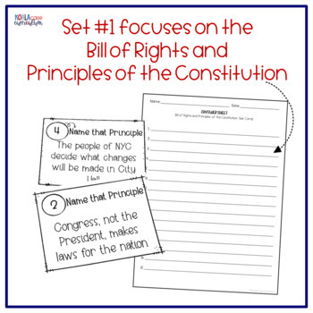 8th Grade US History STAAR Review Task Cards: The Constitution DOUBLE PACK