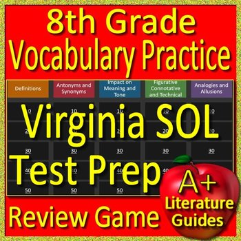 8th Grade Virginia SOL Test Prep Reading Vocabulary Practice Review Game