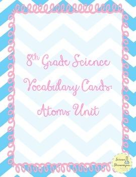 8th Grade Vocab Cards - Chemistry Unit