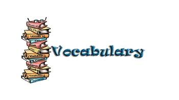 8th Grade Vocabulary Lists (8 Weeks)