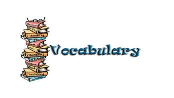 8th Grade Vocabulary Lists (9weeks)
