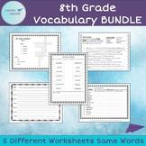 8th Grade Vocabulary Worksheet BUNDLE